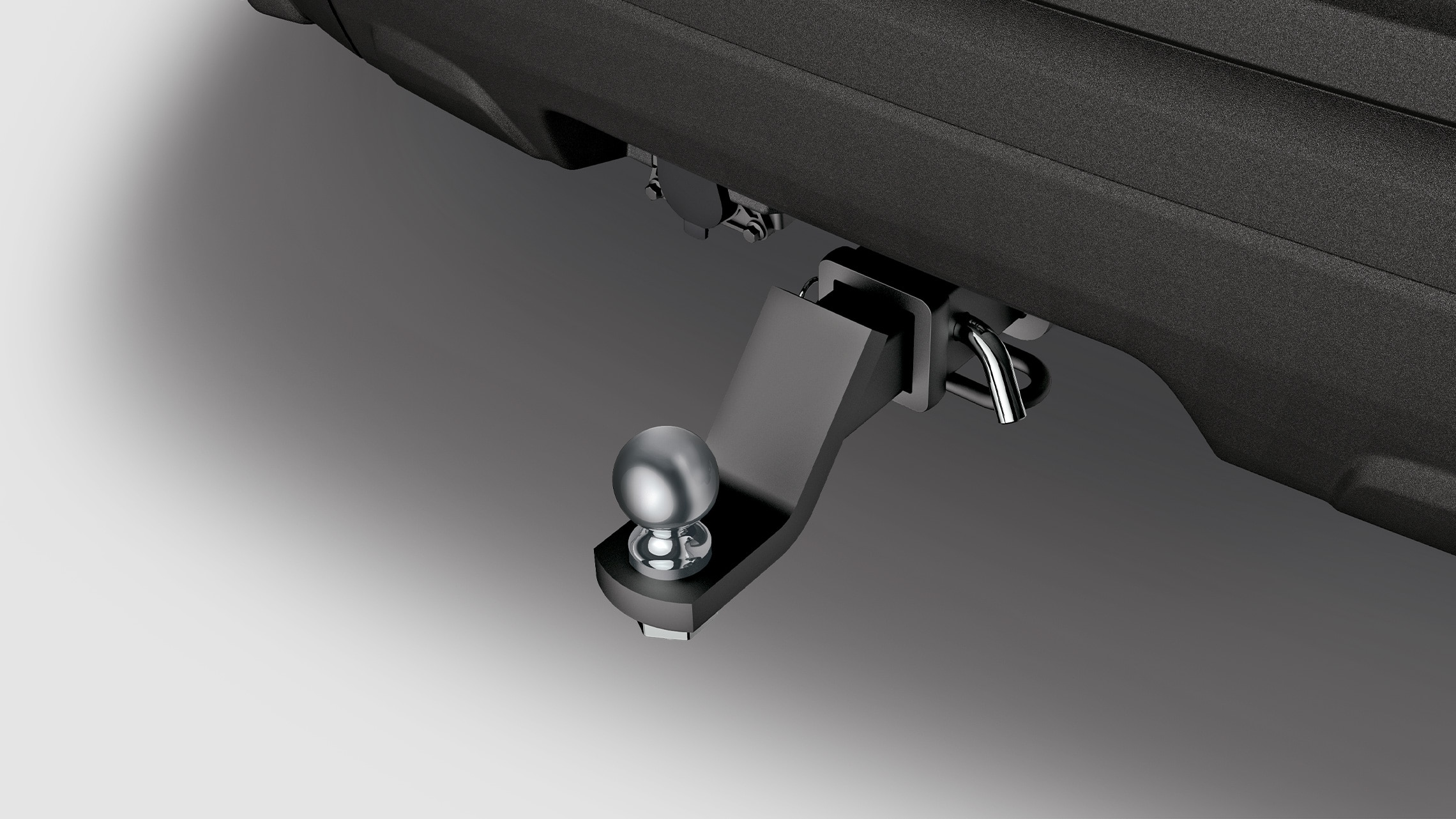 Trailer hitch detail on the 2021 Honda Passport Elite.
