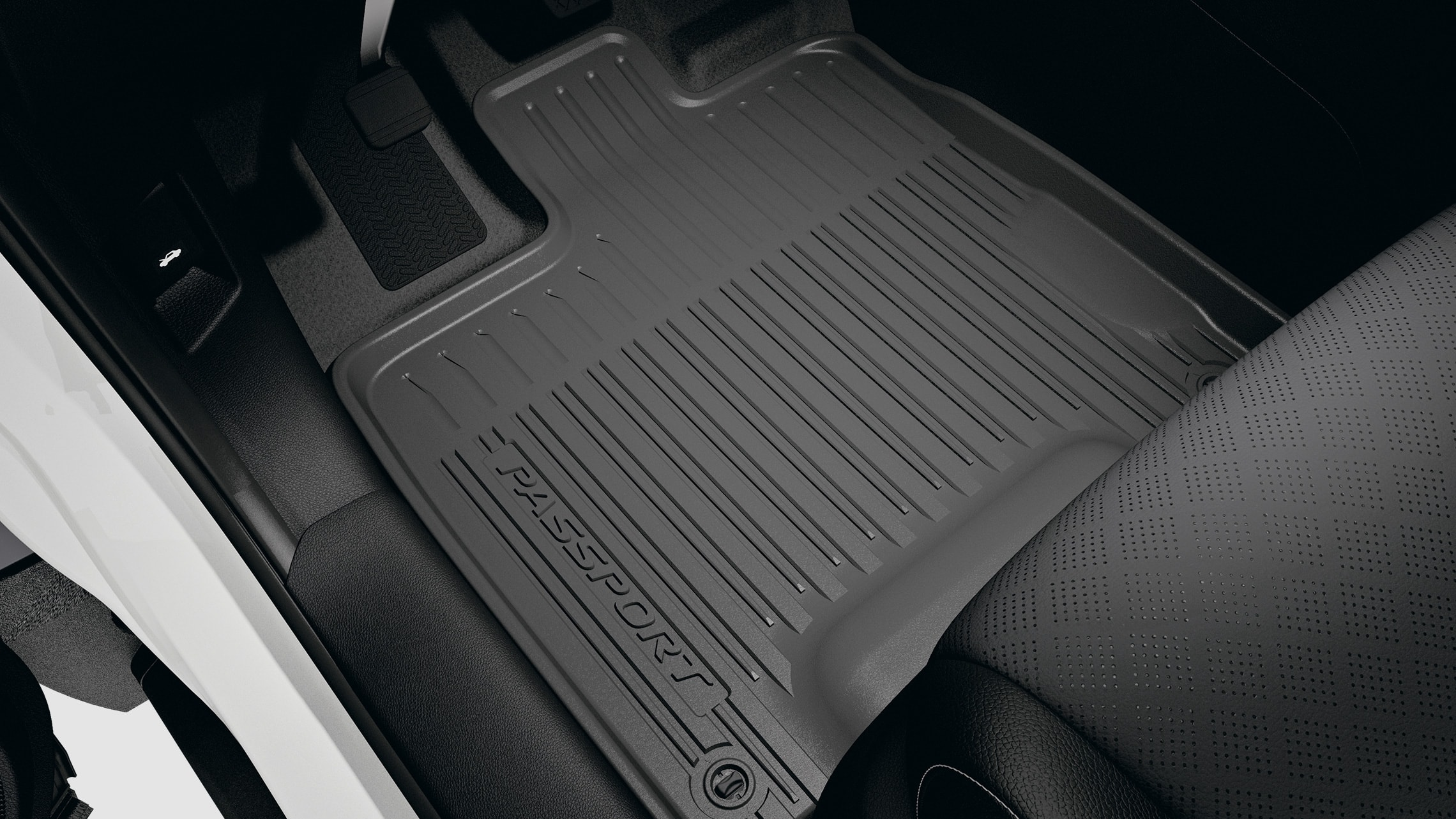 All-season floor mat detail in the 2021 Honda Passport.